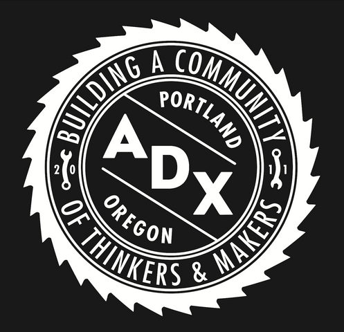 The emblem of the ADX collective in Portland, Oregon.